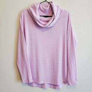Rachel Zoe | Lavender Super Soft Cowl Neck Sweater